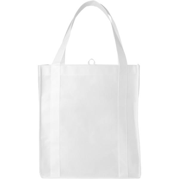 Liberty bottom board non-woven tote bag - White