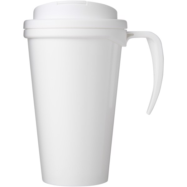 Brite-Americano Grande 350 ml mug with spill-proof lid - White
