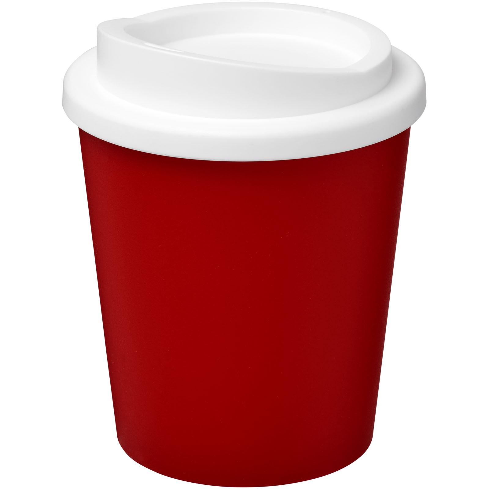 Termo hrnek Americano® Espresso 250 ml - Červená s efektem námrazy / Bílá