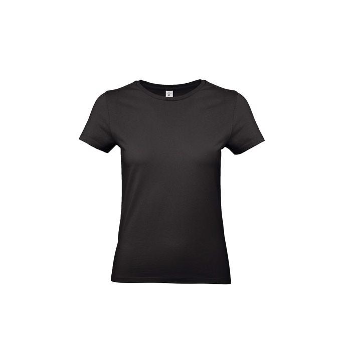 T-shirt female 185 g/m² #E190 /Women T-Shirt - Black / XL