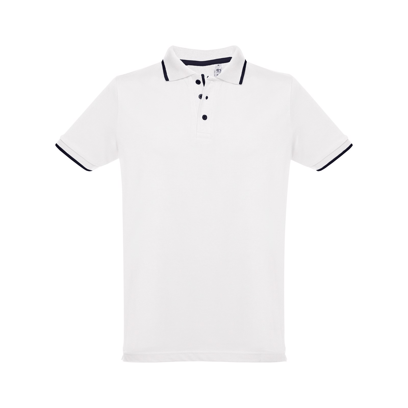 ROME. Ανδρική πόλο μπλούζα slim fit - Λευκό / S