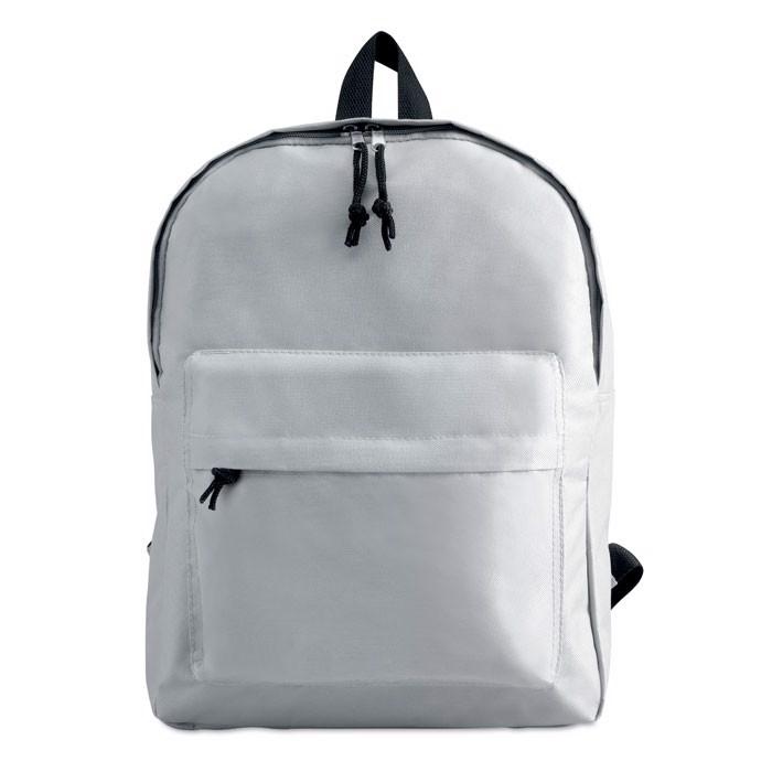 Plecak z zewnętrzną kieszenią Bapal - biały