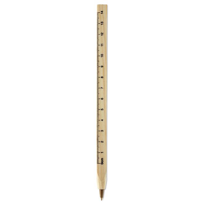 Leseni svinčnik z ravnilom Woodave