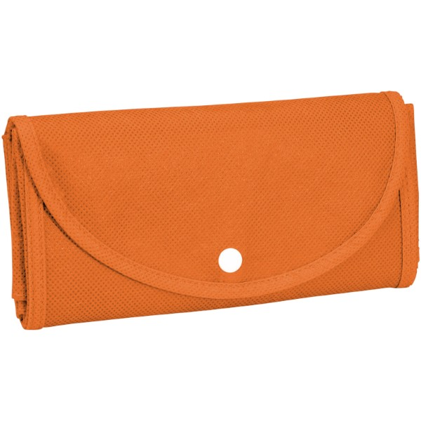 Maple buttoned foldable non-woven tote bag - Orange