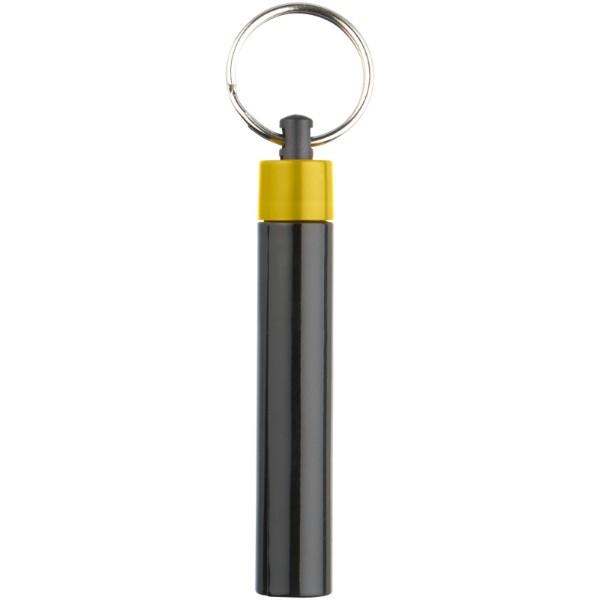 Kvalitní klíčenková svítilna Retro - Žlutá / Černá