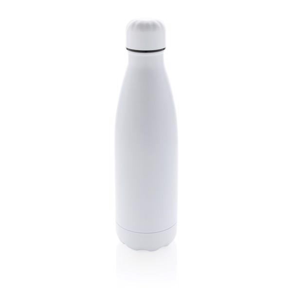 Botella de acero inoxidable al vacío de color sólido - Blanco