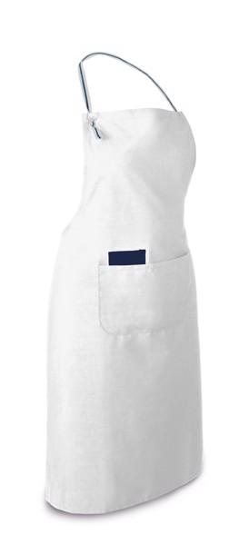 CHIVES. Zástěra z bavlny a polyesteru - Bílá