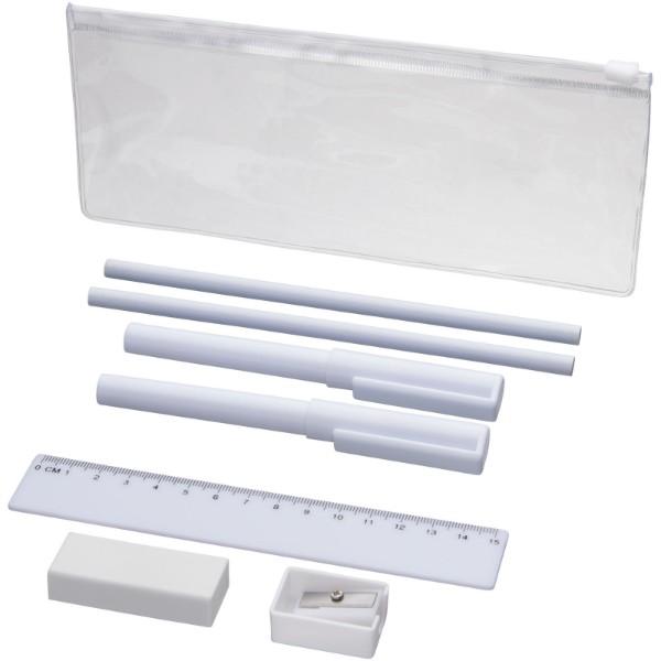 8-elementowy piórnik Mindy - Biały