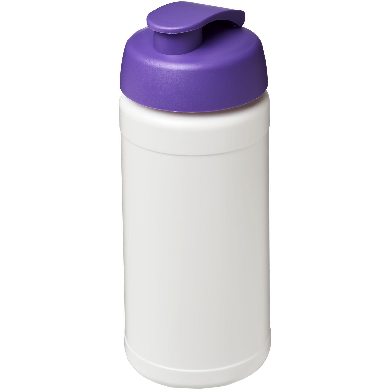 Baseline® Plus 500 ml flip lid sport bottle - White / Purple