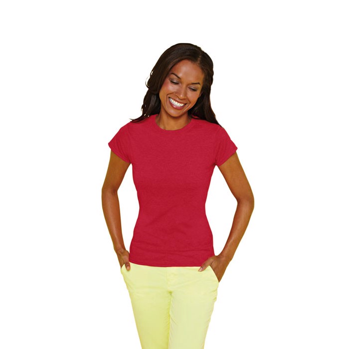 Ladies t-shirt 150 g/m² Lady-Fit Ring Spun 64000L - Cherry Red / M