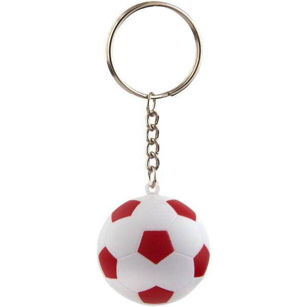 Fotbalový přívěsek na klíče Striker - Červená s efektem námrazy / Bílá