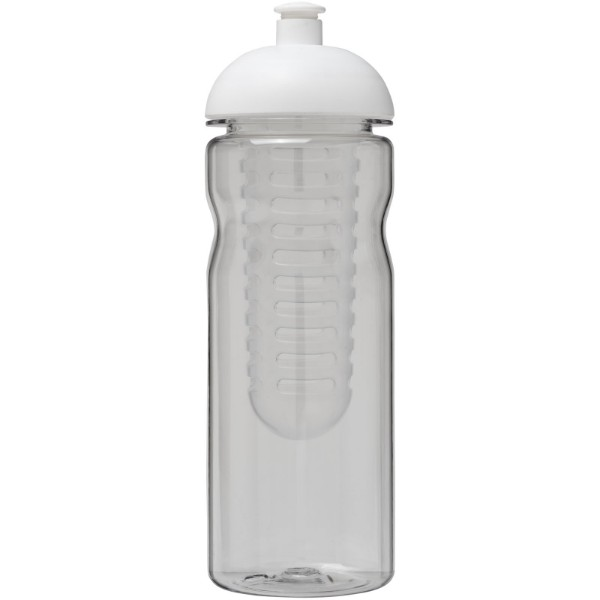 H2O Base Tritan™ 650 ml dome lid bottle & infuser - Transparent / White