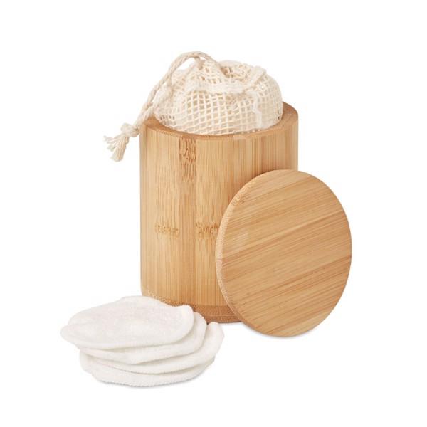 Bamboo fibre cleansing pad set Bella