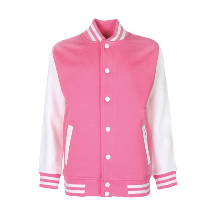 Kids Sweatshirt 300 g/m2 Junior Varsity Jacket Fv002 - Azalea / M