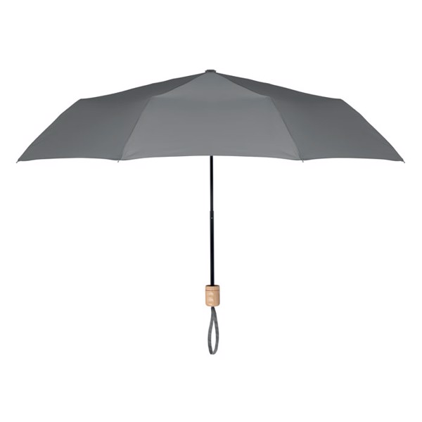 Foldable umbrella RPET pongee Tralee - Grey