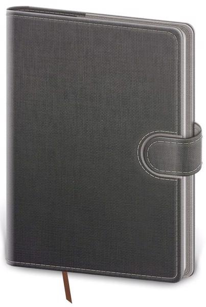 Týdenní kapesní diář Flip 2022, 90x140mm - šedo / šedý