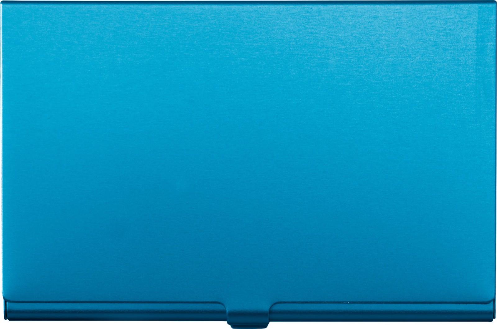 Aluminium card holder - Light Blue