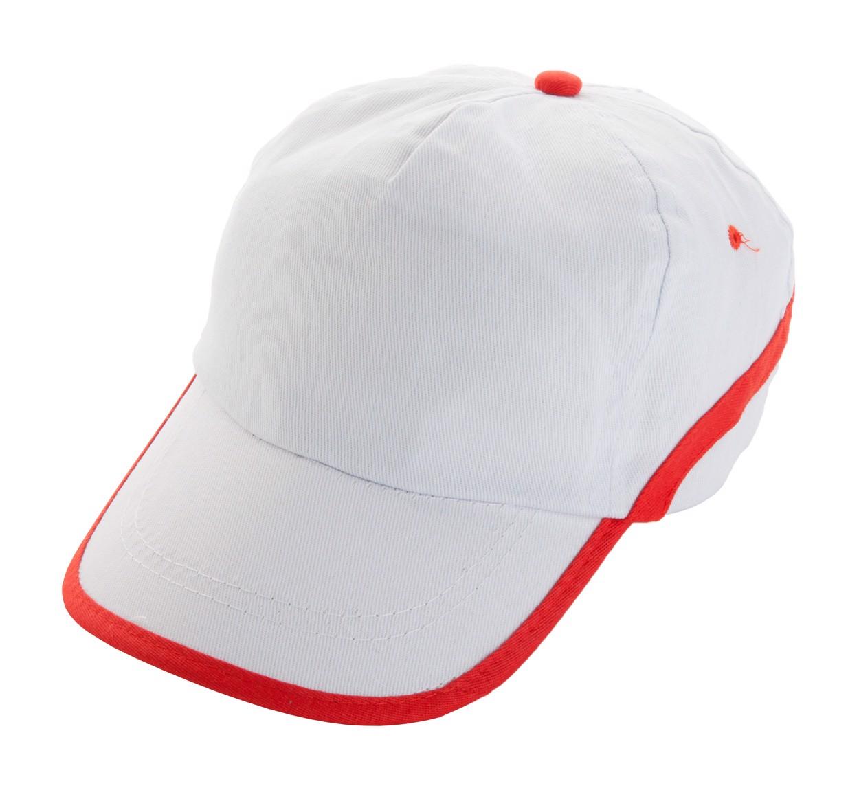 Baseballová Čepice Line - Bílá / Červená
