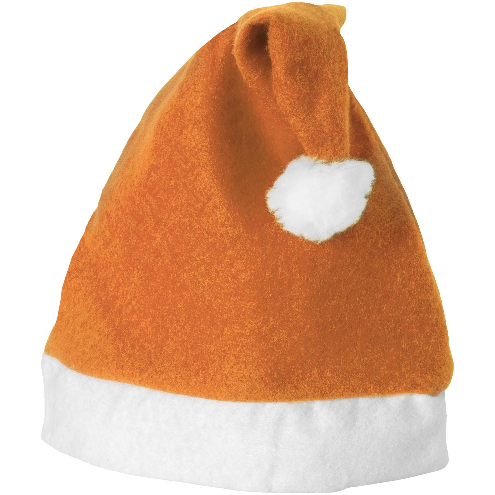 Christmas čepec - 0ranžová / Bílá