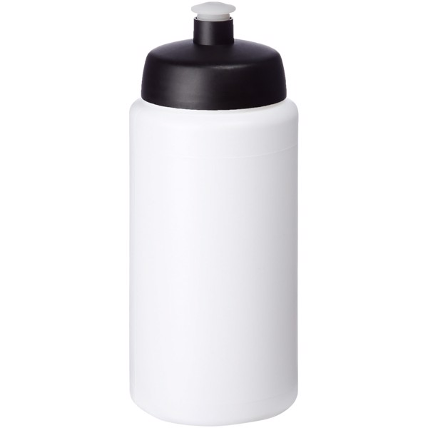 Baseline® Plus grip 500 ml sports lid sport bottle - White / Solid black