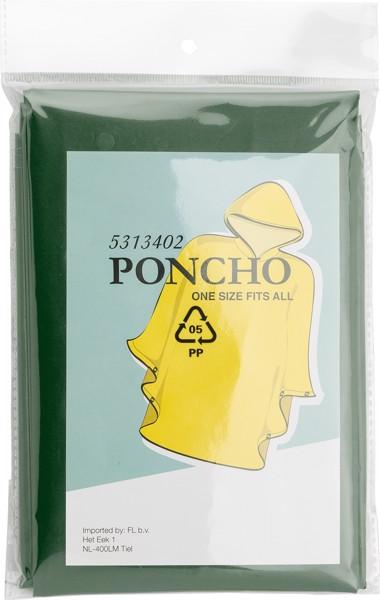 PEVA poncho (approx. 100x120cm). - Olive Green