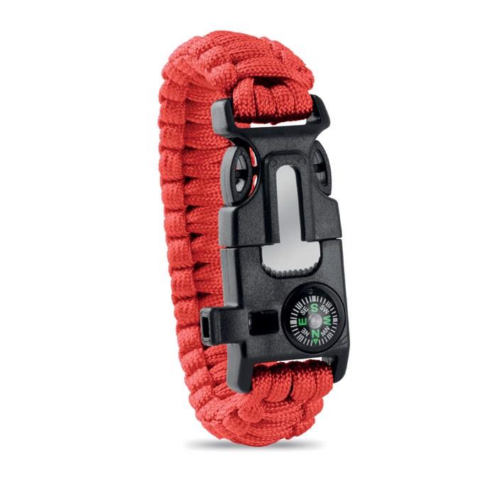 Personal Safety Kit Bracelet Survival - Red