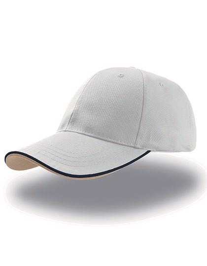 Zoom Piping Sandwich Cap - White / Navy / Khaki / One Size