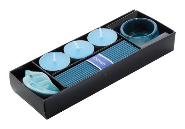 Incense Set Incienso, Ocean - Blue