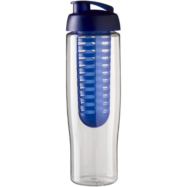 H2O Tempo® 700 ml flip lid sport bottle & infuser - Transparent / Blue