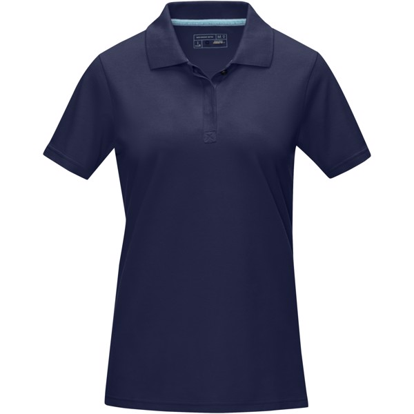 Graphite short sleeve women's GOTS organic polo - Navy / XS