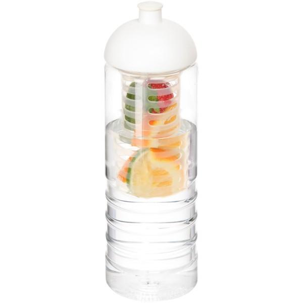 H2O Treble 750 ml lahev s infuzérem a kupolovitým víčkem - Průhledná / Bílá