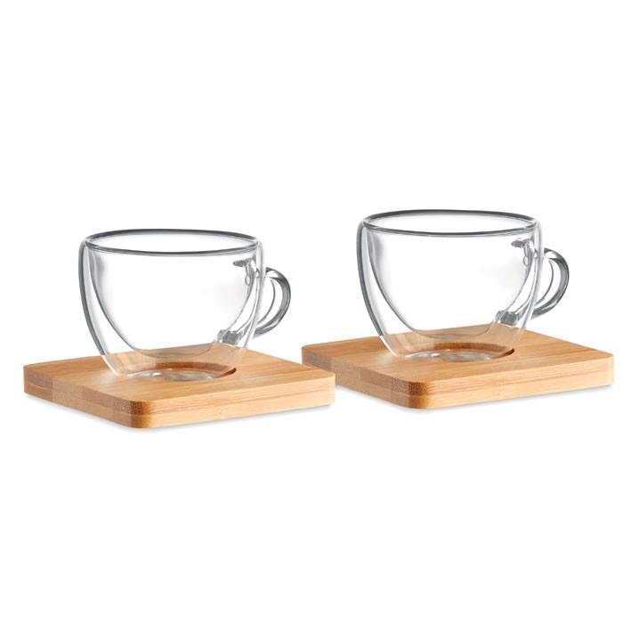 Komplet dveh skodelic za espresso Belize