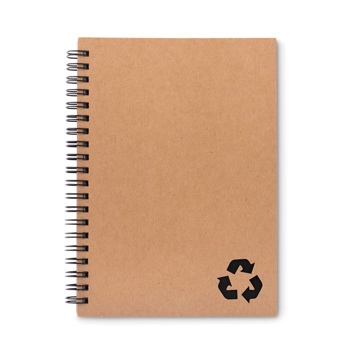 70 lined sheet ring notebook Piedra - Black