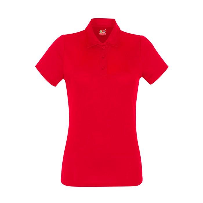 Dámské funkční polo tričko Lady-Fit Polo 63-040-0 - Red / XXL