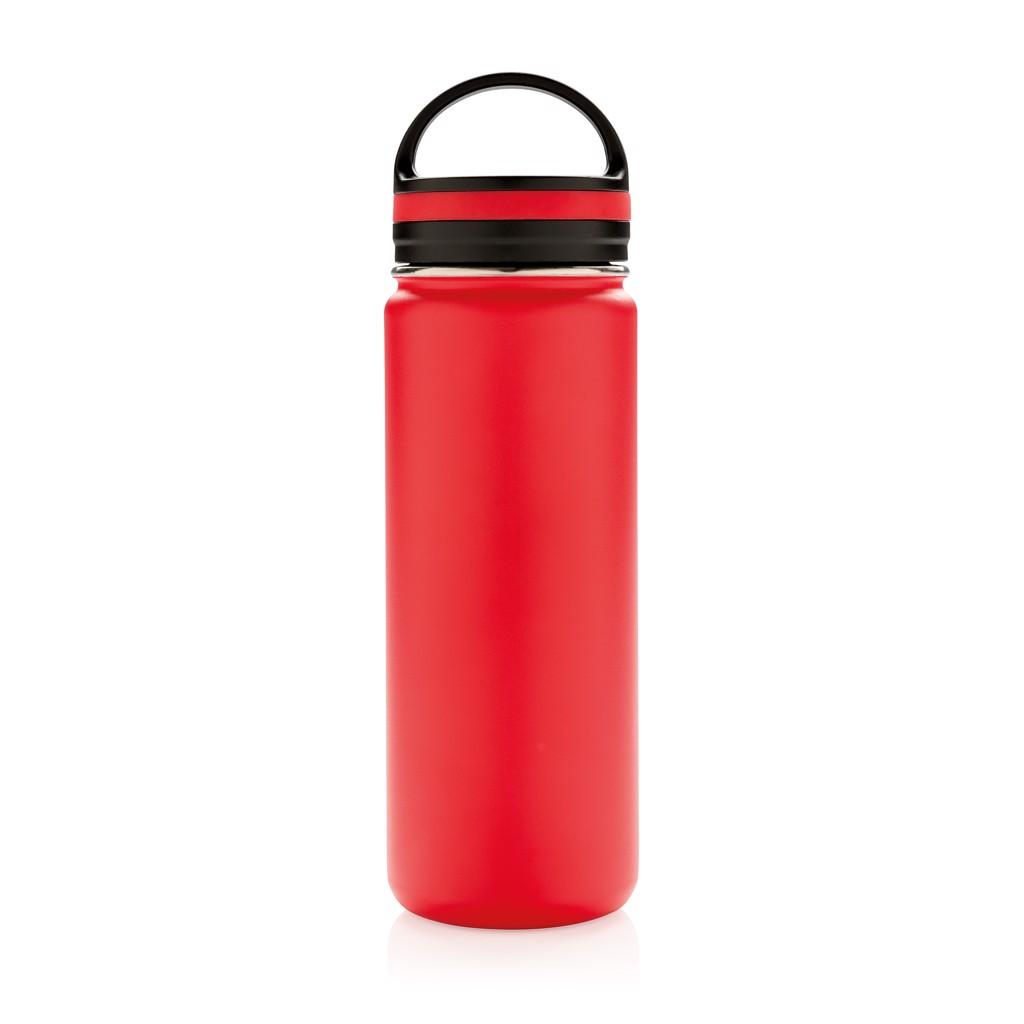 Nepropustná termo láhev se širokým hrdlem - Červená
