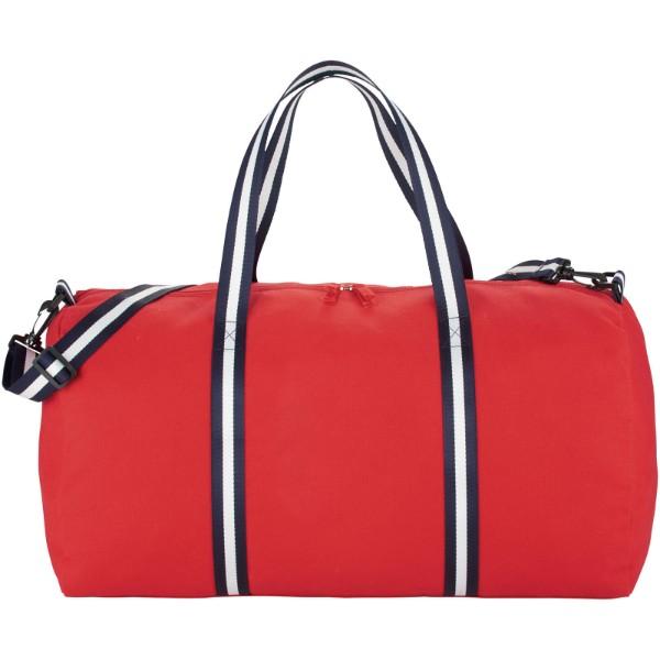 Cestovní plátěná taška Weekender - Červená s efektem námrazy