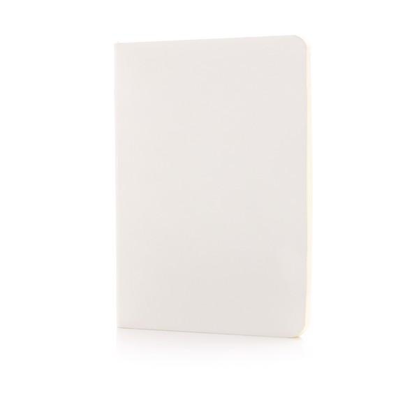 Základní poznámkový blok s měkkou vazbou - Bílá