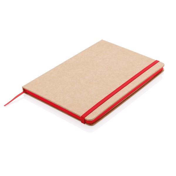 Kraftový poznámkový blok A5 - Červená