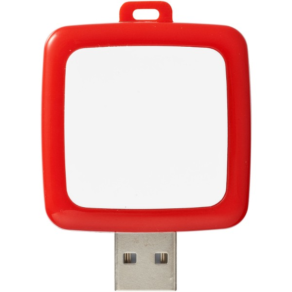 Rotating square USB - Red / 1GB