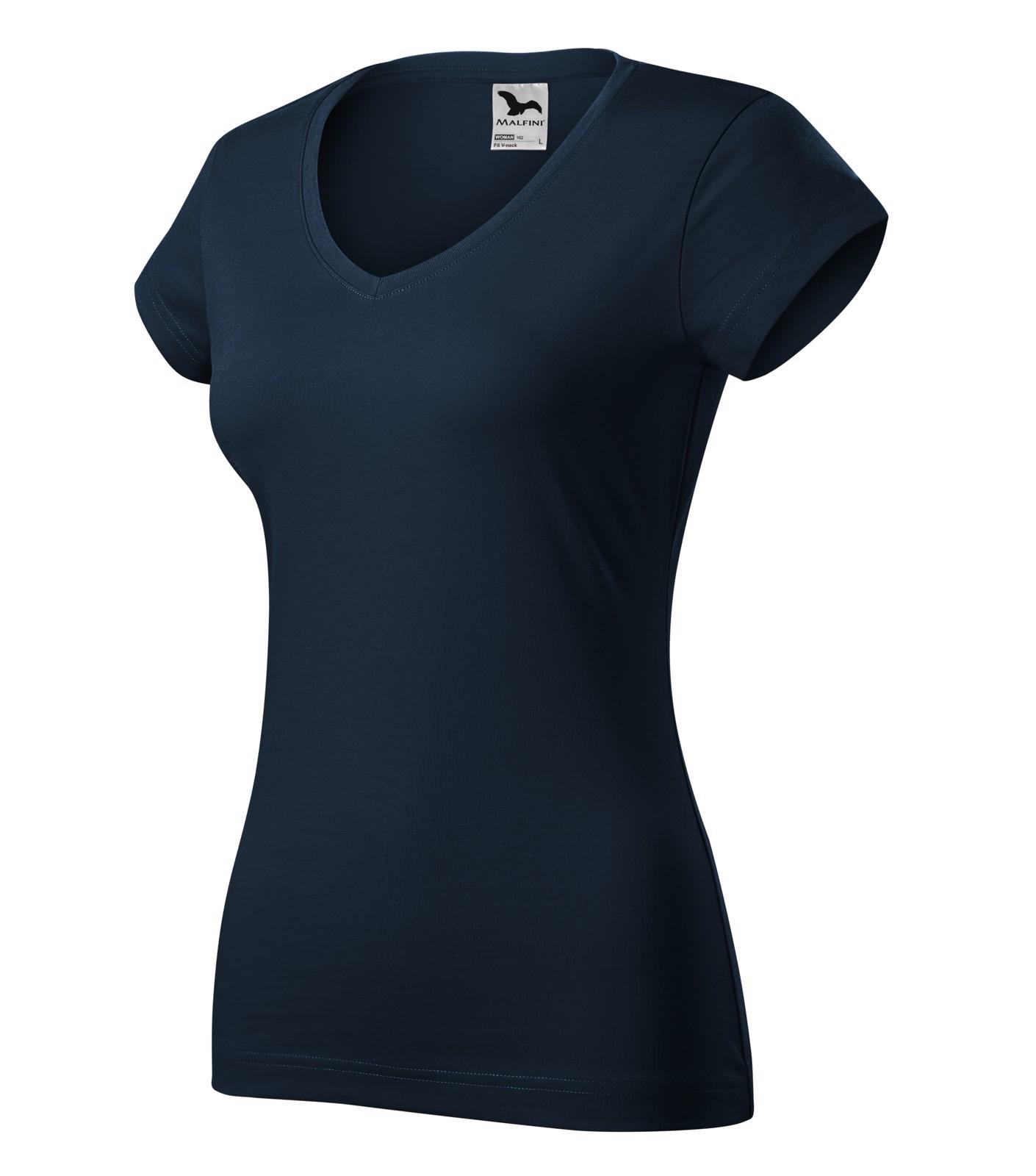 Tričko dámské Malfini Fit V-neck - Námořní Modrá / 2XL