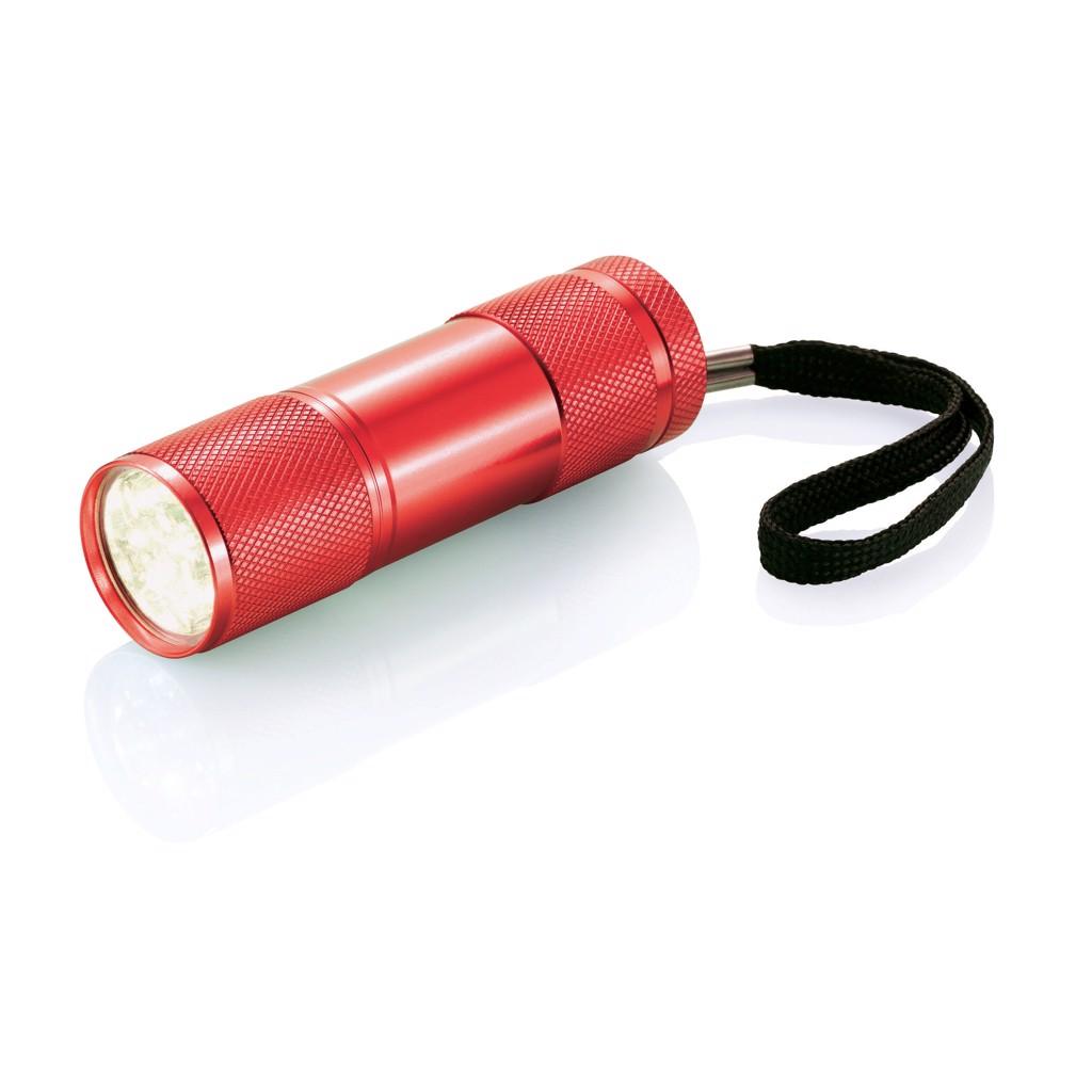 Hliníková svítilna Quattro - Červená