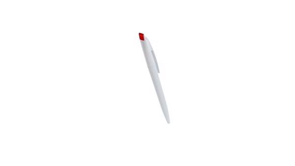 Esferográfica Bendon - Branco / Laranja