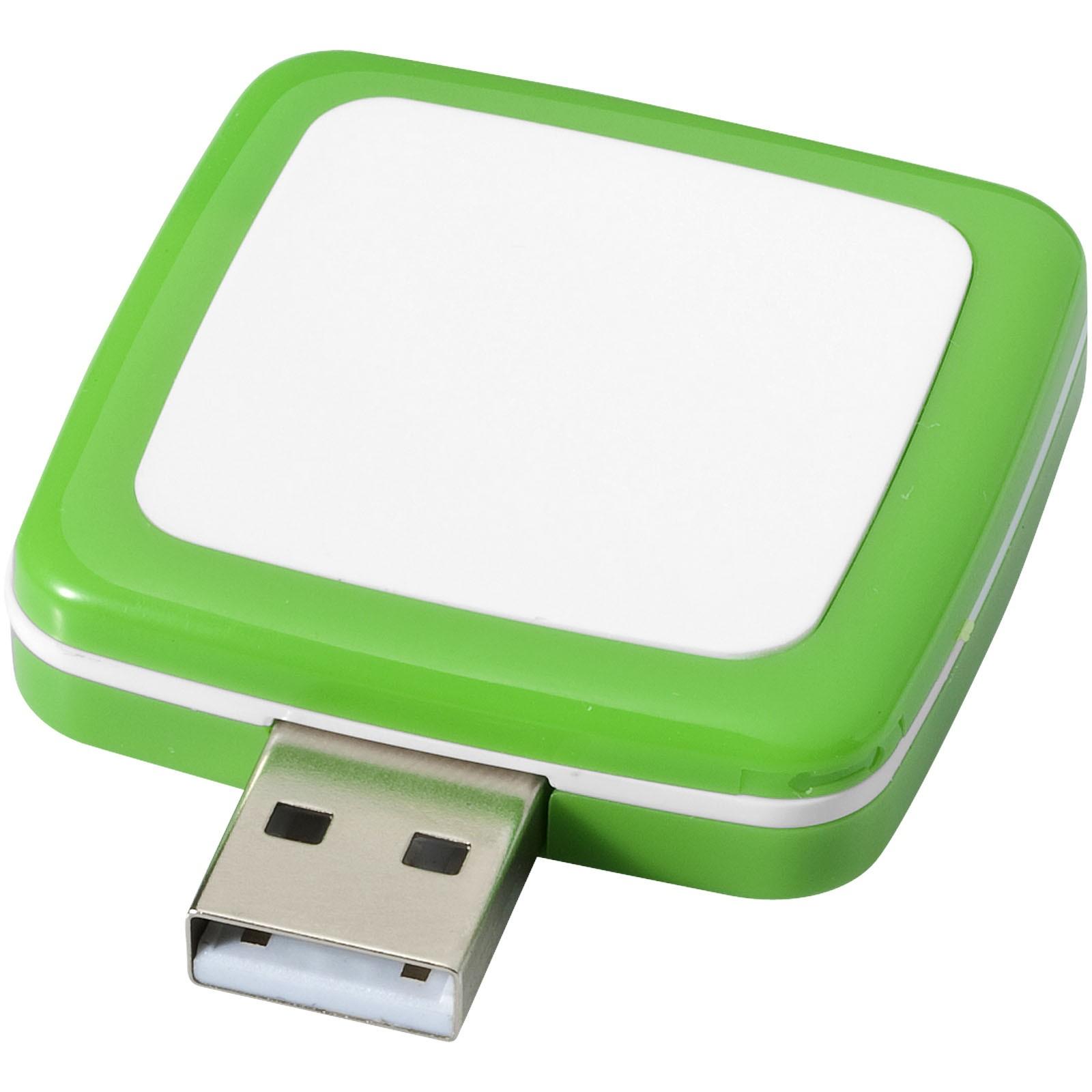 Otočné USB Square - Zelená / 8GB