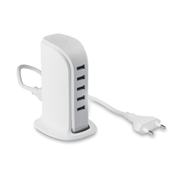 5 port USB hub s AC adaptérem Buildy