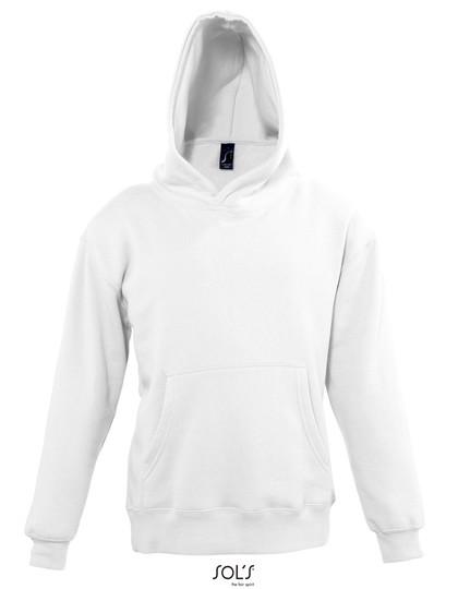 Kids` Hooded Sweat Slam - White / 12 years (142-152)