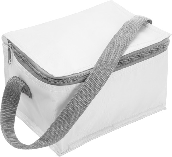 Polyester (420D) cooler bag - White