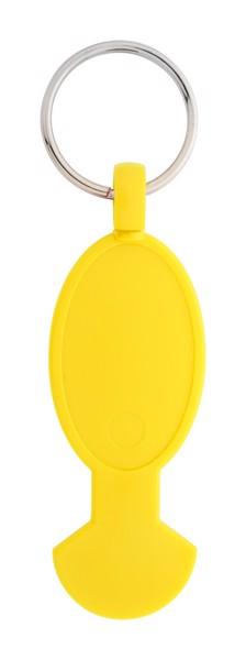 Přívěšek Na Klíče S Koncovkou Do Vozíku Anycart - Žlutá