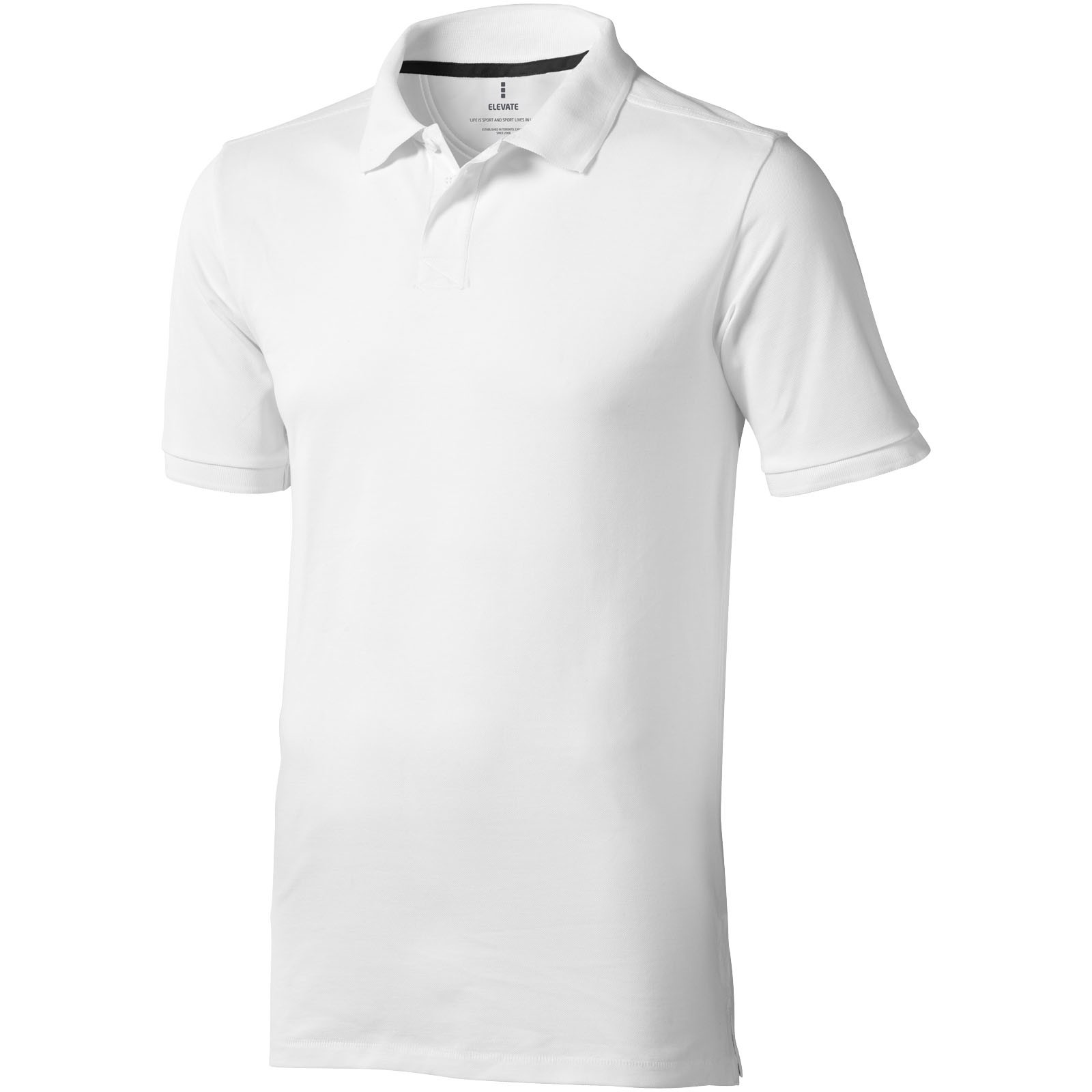 Calgary short sleeve men's polo - White / S