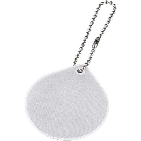 Závěsný reflexní přívěsek kapka - Bílá