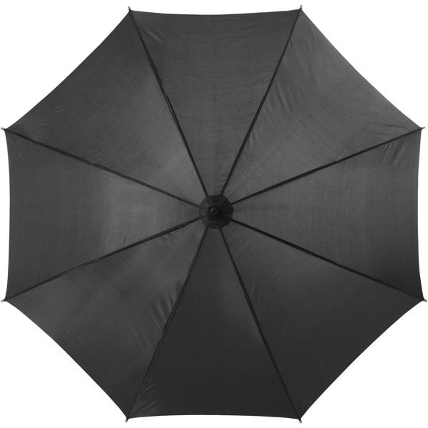 """23"""" deštník Kyle s automatickým otvíráním a dřevěnou tyčí a rukojetí - Černá"""